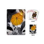 Umbrella Yellow Black White Playing Cards (Mini)  Back