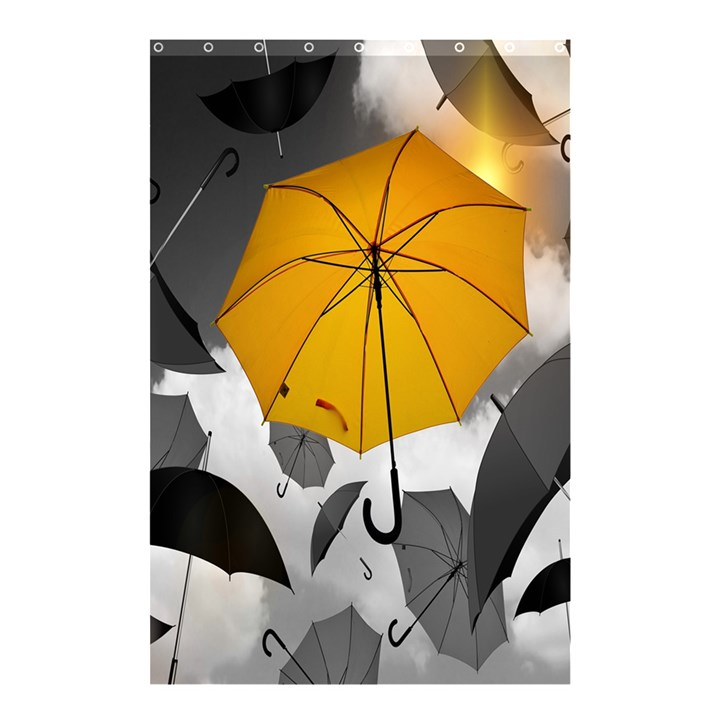 Umbrella Yellow Black White Shower Curtain 48  x 72  (Small)