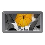 Umbrella Yellow Black White Memory Card Reader (Mini) Front