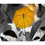 Umbrella Yellow Black White Deluxe Canvas 14  x 11  14  x 11  x 1.5  Stretched Canvas