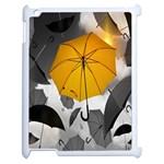 Umbrella Yellow Black White Apple iPad 2 Case (White) Front
