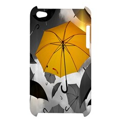 Umbrella Yellow Black White Apple iPod Touch 4