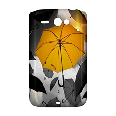 Umbrella Yellow Black White HTC ChaCha / HTC Status Hardshell Case