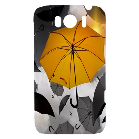Umbrella Yellow Black White HTC Sensation XL Hardshell Case