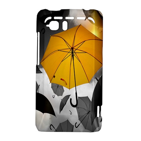 Umbrella Yellow Black White HTC Vivid / Raider 4G Hardshell Case