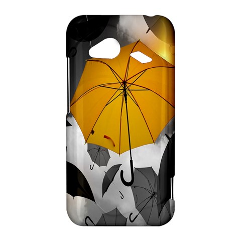 Umbrella Yellow Black White HTC Droid Incredible 4G LTE Hardshell Case