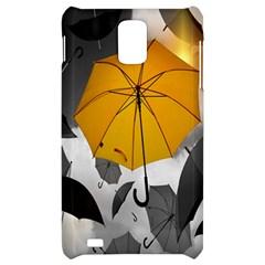 Umbrella Yellow Black White Samsung Infuse 4G Hardshell Case