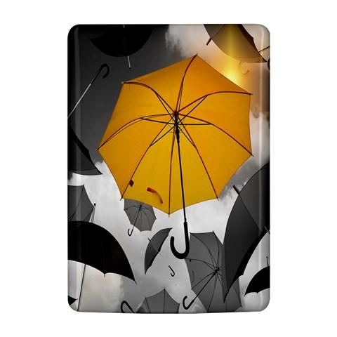 Umbrella Yellow Black White Kindle 4