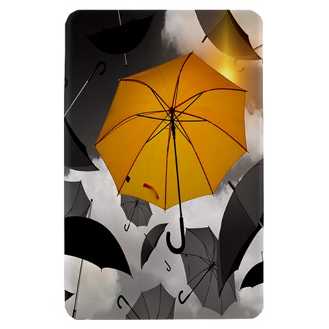 Umbrella Yellow Black White Kindle Fire (1st Gen) Hardshell Case