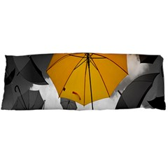Umbrella Yellow Black White Body Pillow Case Dakimakura (Two Sides)