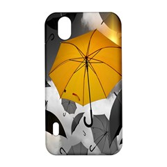 Umbrella Yellow Black White LG Optimus P970