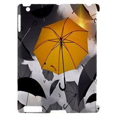 Umbrella Yellow Black White Apple iPad 2 Hardshell Case (Compatible with Smart Cover)