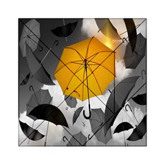 Umbrella Yellow Black White Acrylic Tangram Puzzle (6  x 6 )