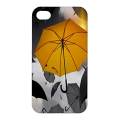 Umbrella Yellow Black White Apple iPhone 4/4S Premium Hardshell Case
