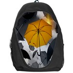 Umbrella Yellow Black White Backpack Bag Front