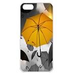 Umbrella Yellow Black White Apple iPhone 5 Seamless Case (White) Front