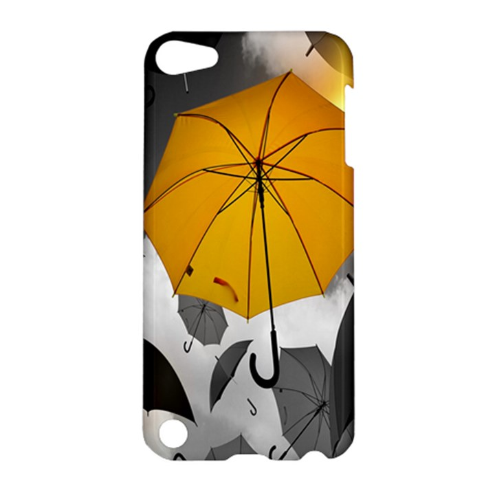 Umbrella Yellow Black White Apple iPod Touch 5 Hardshell Case