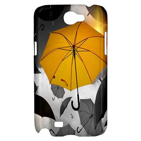 Umbrella Yellow Black White Samsung Galaxy Note 2 Hardshell Case