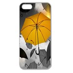 Umbrella Yellow Black White Apple Seamless iPhone 5 Case (Clear) Front