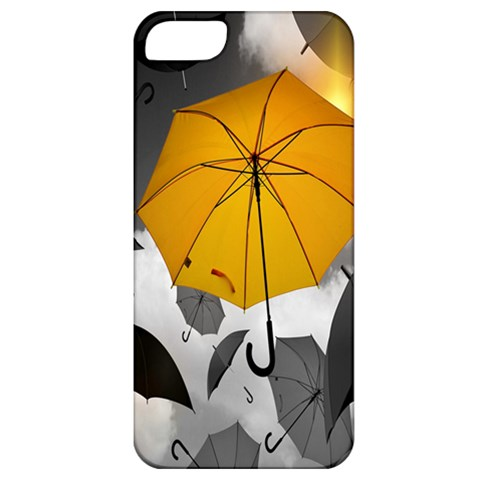 Umbrella Yellow Black White Apple iPhone 5 Classic Hardshell Case
