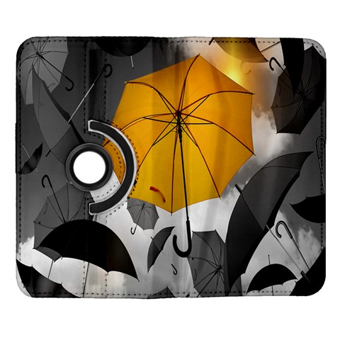 Umbrella Yellow Black White Samsung Galaxy Note II Flip 360 Case