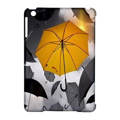 Umbrella Yellow Black White Apple iPad Mini Hardshell Case (Compatible with Smart Cover)