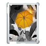 Umbrella Yellow Black White Apple iPad 3/4 Case (White) Front