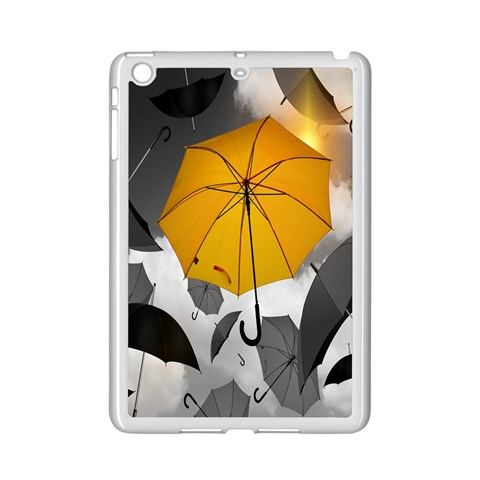 Umbrella Yellow Black White iPad Mini 2 Enamel Coated Cases