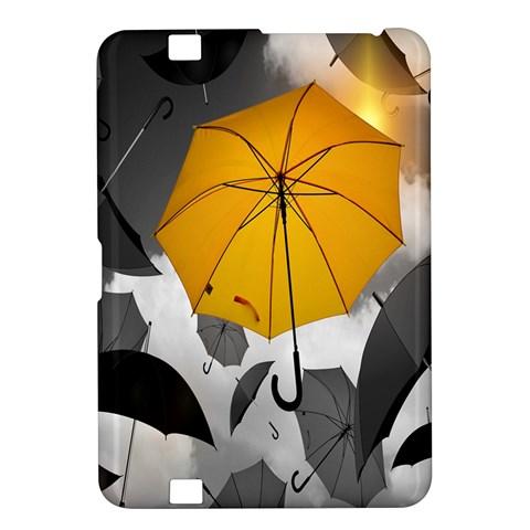 Umbrella Yellow Black White Kindle Fire HD 8.9