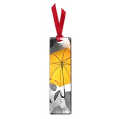 Umbrella Yellow Black White Small Book Marks
