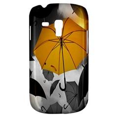 Umbrella Yellow Black White Samsung Galaxy S3 MINI I8190 Hardshell Case