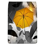Umbrella Yellow Black White Flap Covers (L)  Front