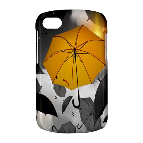 Umbrella Yellow Black White BlackBerry Q10