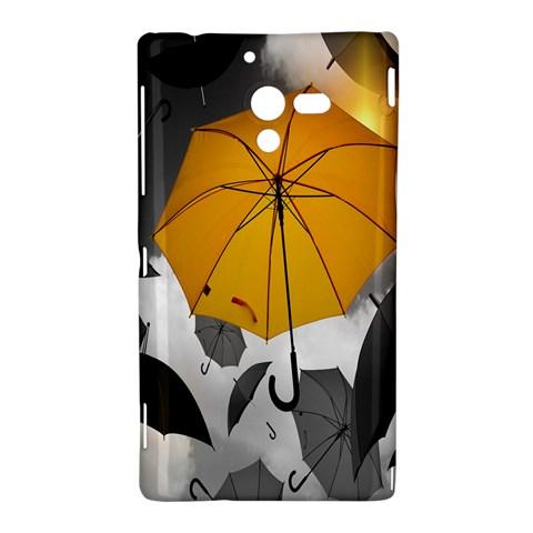 Umbrella Yellow Black White Sony Xperia ZL (L35H)