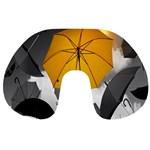 Umbrella Yellow Black White Travel Neck Pillows Back