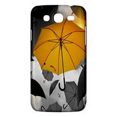 Umbrella Yellow Black White Samsung Galaxy Mega 5.8 I9152 Hardshell Case