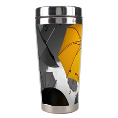 Umbrella Yellow Black White Stainless Steel Travel Tumblers