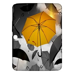 Umbrella Yellow Black White Samsung Galaxy Tab 3 (10.1 ) P5200 Hardshell Case