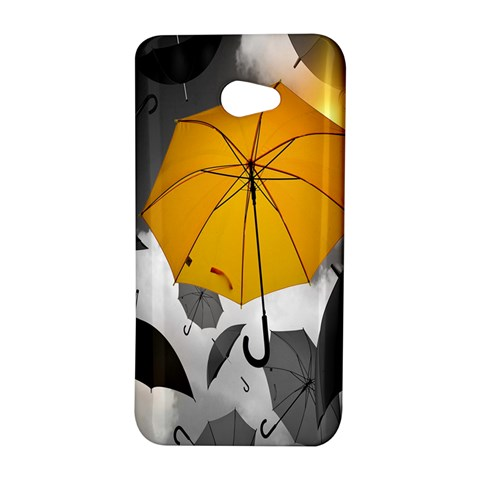 Umbrella Yellow Black White HTC Butterfly S/HTC 9060 Hardshell Case