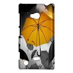 Umbrella Yellow Black White Nokia Lumia 720