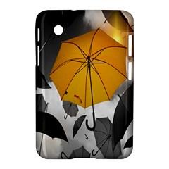 Umbrella Yellow Black White Samsung Galaxy Tab 2 (7 ) P3100 Hardshell Case