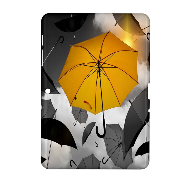 Umbrella Yellow Black White Samsung Galaxy Tab 2 (10.1 ) P5100 Hardshell Case