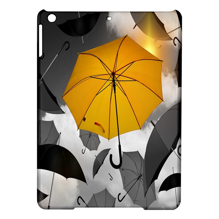 Umbrella Yellow Black White iPad Air Hardshell Cases
