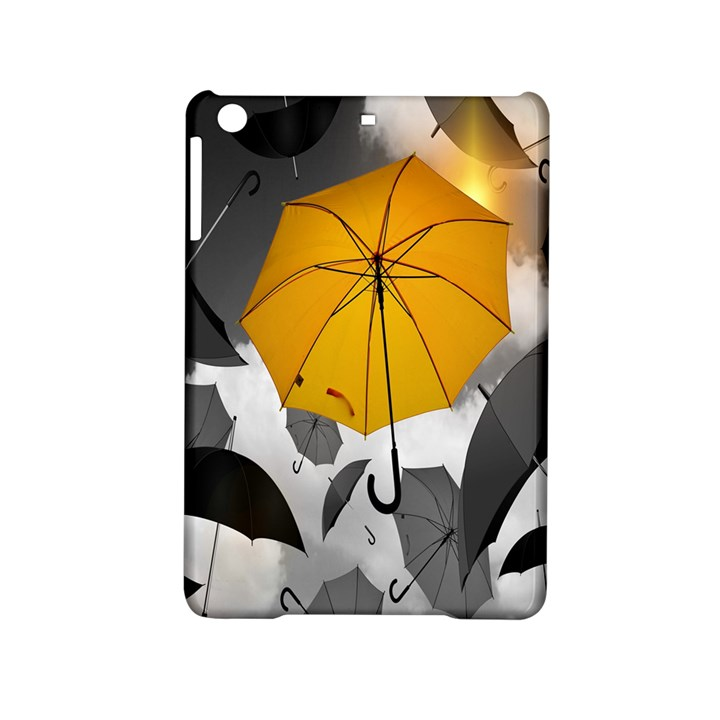 Umbrella Yellow Black White iPad Mini 2 Hardshell Cases