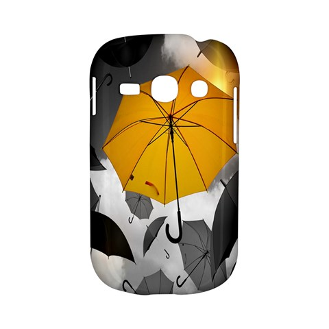 Umbrella Yellow Black White Samsung Galaxy S6810 Hardshell Case