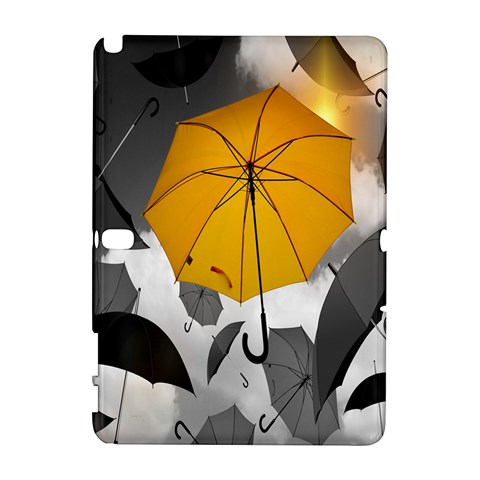 Umbrella Yellow Black White Samsung Galaxy Note 10.1 (P600) Hardshell Case
