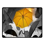 Umbrella Yellow Black White Double Sided Fleece Blanket (Small)  50 x40 Blanket Front