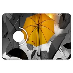 Umbrella Yellow Black White Kindle Fire HDX Flip 360 Case
