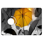 Umbrella Yellow Black White Kindle Fire HDX Flip 360 Case Front