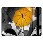 Umbrella Yellow Black White Samsung Galaxy Tab Pro 12.2  Flip Case Front